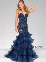 Jovani Classical Sweetheart Trumpet Long Dress 31021