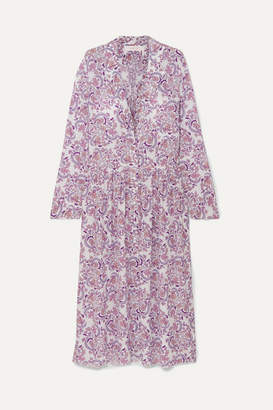 See by Chloe Paisley-print Voile Midi Dress - Lilac