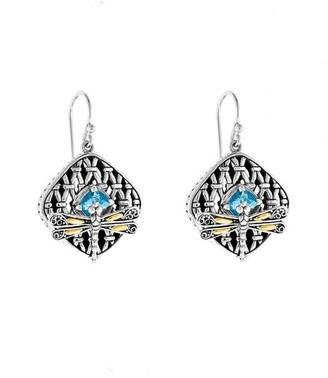 Phillip Gavriel Dragonfly 18K & Silver Dragonfly Drop Earrings