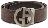 Giorgio Armani GA-buckle leather belt
