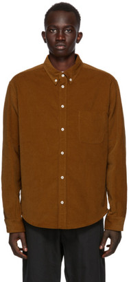 4SDESIGNS Brown Corduroy Shirt