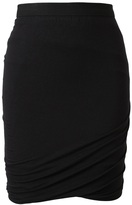 T By Alexander Wang Draped Stretch Jersey Skirt