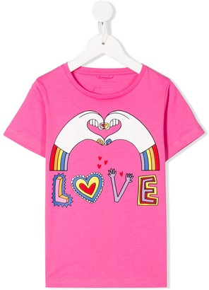 Stella McCartney love hands print T-shirt