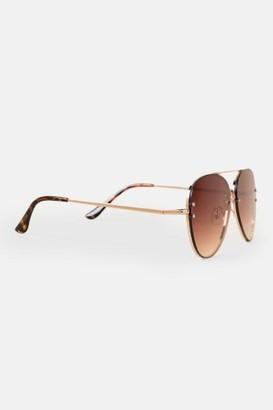 francesca's Taryn Aviator Sunglasses - Tortoise