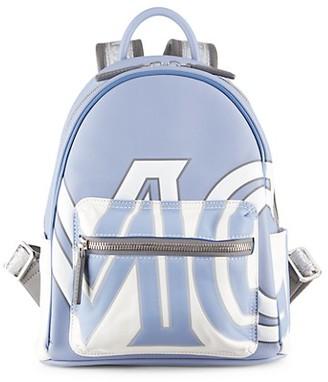 MCM Mini Logo Leather Backpack