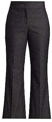 Piazza Sempione Women's Cropped Flare Chambray Pants