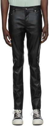 Rick Owens Black Faux-Leather Tyrone Cut Pants