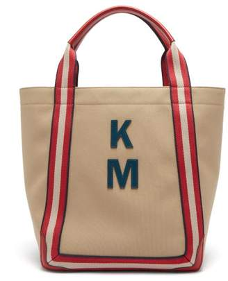 Anya Hindmarch Walton Customisable Canvas Tote Bag - Womens - Red Multi