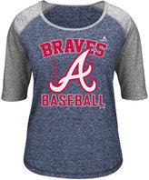 Majestic Women's Three-Quarter Sleeve Atlanta Braves T-Shirt