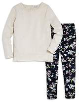 Splendid Girls' Long-Sleeve Tee & Floral Print Leggings Set - Little Kid