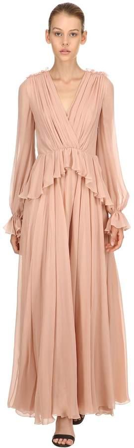Giambattista Valli Draped Silk Dress