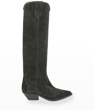 Isabel Marant Denvee Suede Tall Boots