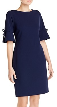 Karl Lagerfeld Paris Scuba Crepe Elbow-Sleeve Dress