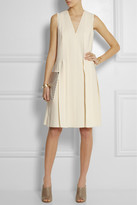 Cédric Charlier Pleated stretch-crepe dress