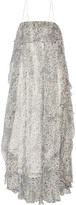 Zimmermann Empire Mist Ruffled Silk-blend Georgette Maxi Dress - Blue