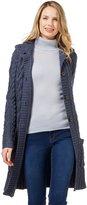 Wool Overs Women's British Wool Aran Coat Cardigan