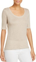 Majestic Filatures Scoop Neck Elbow Sleeve Tee