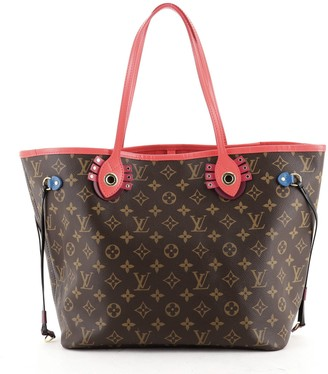 Louis Vuitton Neverfull NM Tote Limited Edition Totem Monogram Canvas MM