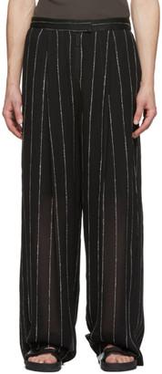 Dion Lee Black Chalk Stripe Float Trousers