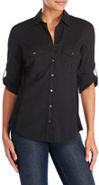 James Perse Contrast Panel Woven Shirt