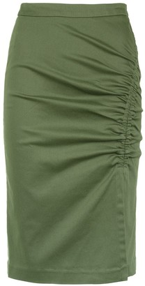 Isolda Heliconia pencil skirt