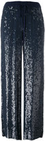 P.A.R.O.S.H. sequins flared trousers - women - Polyester/Viscose - M