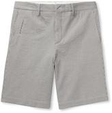 Ermenegildo Zegna - Striped Stretch-cotton Seersucker Shorts