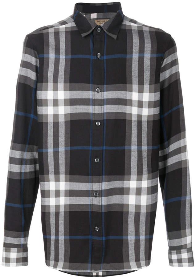 Burberry Check Cotton Flannel Shirt