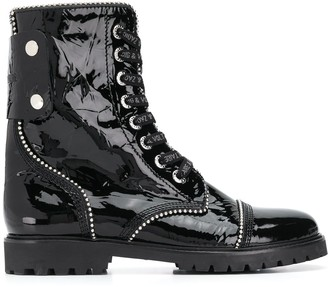 Zadig & Voltaire Studded Lace-Up Ankle Boots