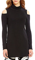 Eva Varro Turtleneck Cold-Shoulder Solid Tunic