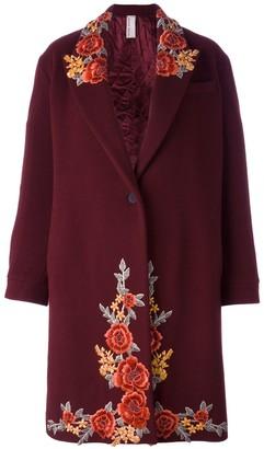 Antonio Marras Embroidered Single Breasted Coat