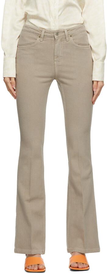 Low Classic Khaki Boot Cut Jeans