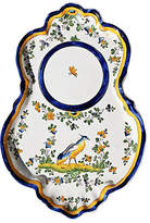 One Kings Lane Vintage French Faience Serving Plate - House of Charm Antiques - white/blue/multi