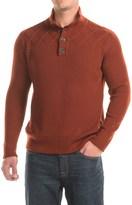 Ibex Mountain Sweater - Merino Wool, Button Neck (For Men)