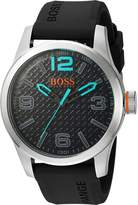 BOSS ORANGE Men's Quartz Stainless Steel and Resin Automatic Watch, Color: Grey (Model: 1513377)