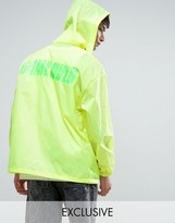 Reclaimed Vintage Inspired Retro Lightweight Jacket In Neon Yellow