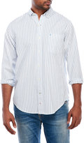 Izod Saltwater Striped Button-Down Woven Shirt