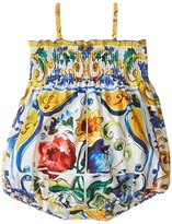 Dolce & Gabbana Escape Maiolica Floral One-Piece (Infant)