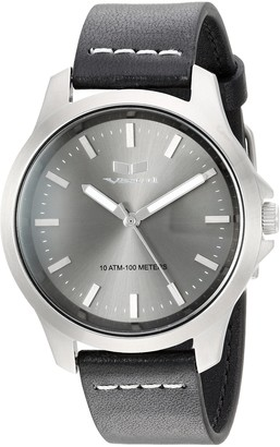 Vestal Stainless Steel Analog-Quartz Watch with Leather Strap