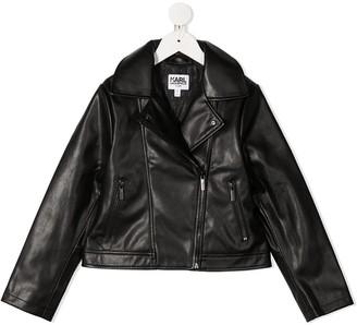 Karl Lagerfeld Paris Rear Logo Print Jacket