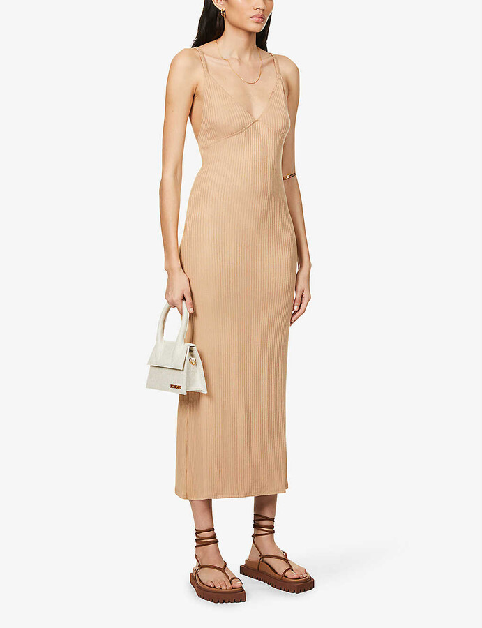 Thumbnail for your product : Reformation Brant ribbed stretch-knit midi dress