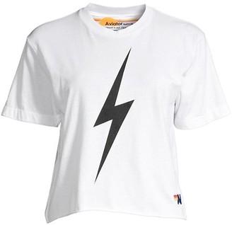 Aviator Nation Lightening Bolt Boyfriend T-Shirt