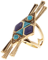 House Of Harlow Geo Tassel Statement Cocktail Ring - Size 6