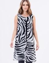 Wallis Zebra Split Front Top
