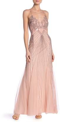 Marina V-Neck Beaded Dress