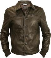 Forzieri Men's Dark Brown Leather Jacket