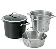 Calphalon Contemporary Nonstick 8-Quart Multi Pot & Lid with Steamer Inserts