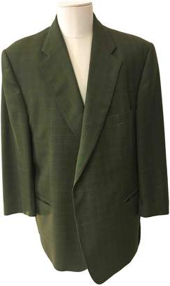 Burberry Green Wool Jackets