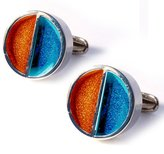 Denison Boston Denisonboston Level Cufflinks Turquoise/Orange