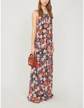 Claudie Pierlot Reese floral-print crepe maxi dress